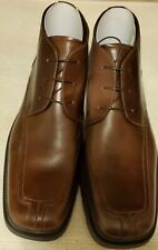 KENNETH COLE REACTION Ankle Boots Square Toe Mens 15 Brown New Lace up