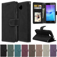 Matte Wallet Leather Flip Stand Case Cover For Huawei P30 Lite Y6 2019 Y7 2019