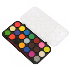 21 Coloured Watercolour Art Paint Set With Brush & Case For Artists DIY H1G1