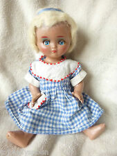 "Vintage Doll - Light Plastic - Jointed - Blonde Glued Wig - 10"" Tall"