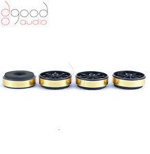 4 x Gold Plastic / Foam Feet for Hi-Fi Audio Component / Isolation / Spikes