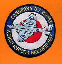Canberra B.2 WK163 - World Record Breaker 1957 embroidered patch (New)