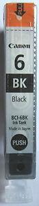 Canon BCI-6Bk Genuine Black Cartridge. New & Sealed.