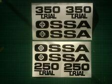 Ossa Gripper 250 or 350 Twinshock Trials tank / seat unit stickers decals