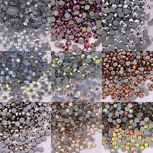 Crystal AB Hotfix Rhinestones FlatBack Hot Fix glitter Strass Garment stones