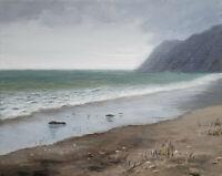 Meer Seelandschaft Acrylbild auf Leinwand ORIGINAL Malerei, Strand, Lynovskaja