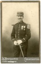 Portrait militaire en uniforme, ca.1885, vintage albumen print, Carte Cabinet vi