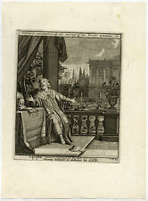 Antique Print-SOLOMON-PHILOSOPHY-VANITY-KING-THRONE-V.T. 69-Scheits-1754
