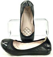 Vince Camuto Elisee Flat Womens Size 7 M Black Round Cap Toe Slip On Ballet Shoe