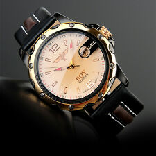 Boy London Mens Fashion Casual Analog Brown Leather Band Quartz Wrist Watch Gift