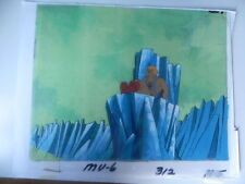 MASTERS OF THE UNIVERSE MOTU HAND PAINTED ANIMATION CEL MU6 312 H-5 HE-MAN SITS