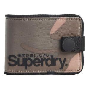 Superdry NEW Mens Tarp One Popper Wallet - Army Camo BNWT