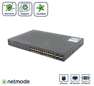 NEW Cisco WS-C2960XR-24PD-I Ethernet Switch 24 PoE ports, 2 SFP+ Uplink, IP Lite