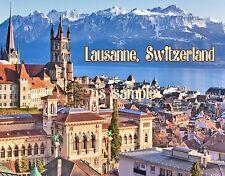 Switzerland - LAUSANNE - Travel Souvenir Flexible Fridge MAGNET