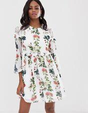 Ted Baker White Maryam White Oracle Layered Ruffle Dress UK 12 Size 3