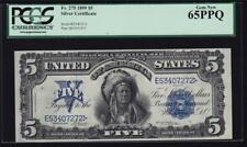 Fr. 275 1899 $5 Indian Chief Silver Certificate Pcgs Gem 65 Ppq