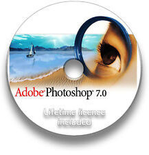 Adobe Photoshop 7.0 WINDOWS CD - LIFETIME INSTALL LICENCE KEY