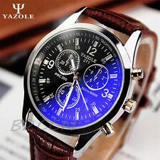 Luxury Military Sport Men's Stainless Steel Quartz Date Leather Wrist Watch AU