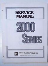Original Hammond Organ 2000 Series Service Manual