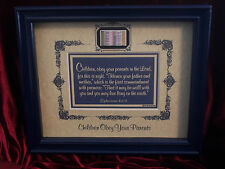"""New!Bible Scripture Plaque""""CHILDREN OBEY YOUR PARENTS IN THE LORD""""Christian GIFT"""