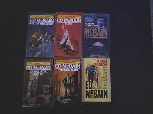 6 Lot vintage paperback books Ed McBain Mystery