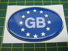 1 DOMED EU GB CAR STICKER WITH A GOLD OUTLINE