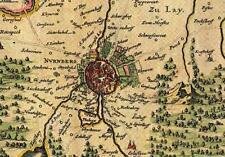 Historische Landkarte Nürnberg, Burgthann, Zirndorf, Rudolfshof, Mögeldorf 1658