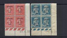 France 1930 Bit Congress (Scott 256-257) Mint Plate blocks *read desc*