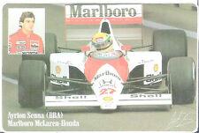 Marlboro sticker.Ayrton senna, Mc Laren Honda ,Druck-Ag  ,rar
