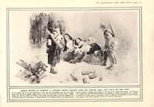 1914 Fac-Similé croquis allemand méthodes de guerre des atrocités de tuer des civils