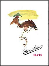 HAT BORSALINO HATS COWBOYS HORSE RACING PAINTED 1949