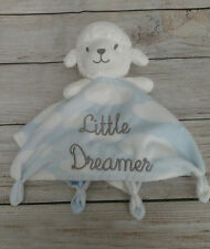 Jacks and Jules Little Dreamer Blue Clouds Sheep Security Blanket Lovey Knotty
