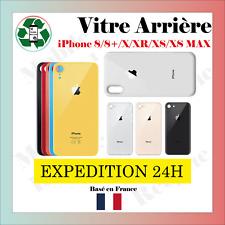 VITRE ARRIÈRE IPHONE 8/8PLUS/X/XR/XS/XS MAX avec LOGO // VENDEUR PRO