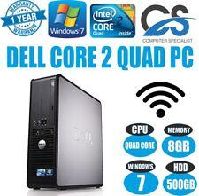 WINDOWS 7 PRO FAST DELL OPTIPLEX 780 SSF DESKTOP PC COMPUTER INTEL CORE 2 QUAD