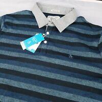 ORIGINAL PENGUIN Men's Heritage Slim Fit Stripe Polo Shirt NWT $69 Size 2XL XXL