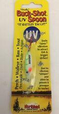 Northland Tackle BRUVS4-20 UV Buck Shot Rattle Spoon Glo. Perch 1/4 oz Lure RARE