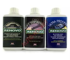 Renovo ***Black Restore Kit*** Soft Top Canvas Cleaner & Reviver & Ultra Proofer