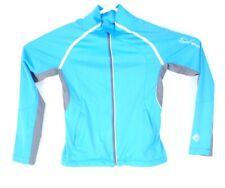 Salomon Clima Wind Jacket Lightweight Running Cycling Womens Small S Blue