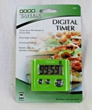 Taylor Digital 5827GN Kitchen Timer Stopwatch with Clip and Magnet Green