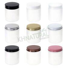 8.5oz 250ml Frosted Translucent PET Jars w/ Cap Plastic / Metal Screw Lid Empty