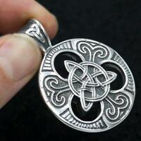 HUGE HEAVY WITCH TRIQUETRA CELTIC KNOT 925 STERLING SILVER MENS WOMENS PENDANT