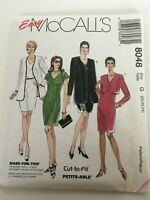 Easy McCalls Sewing Pattern 8048 20 22 24 Misses Dress & Jacket in 2 Lengths UC