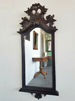 Original Barock-Spiegel aufwendig beschnitzt Eiche um 1750 H 100 cm