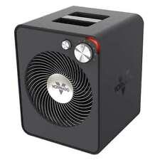 Vornado 2 Setting Vortex Circulation Sleek Metal Room/Space Heater, Black (Used)