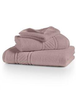 Martha Stewart 100% Cotton Geometric Jacquard Border Bath Towel - Blush