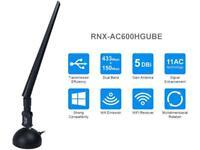 Rosewill RNXAC600HGUBE Dual Band 802.11AC USB Wi-Fi Adapter, USB 2.0 Cradle, 5 D