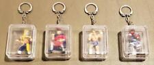 4 Capcom Placo Toys 1992 Street Fighter 2 Keychains Lot Set