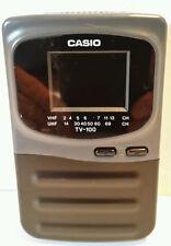 Vintage Casio Handheld Color VHF/UHF Self tuning TV-100 Mini Television