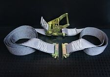(12) 16' E Track Ratchet Tie Down Straps Box Truck Trailer Moving Van Cargo