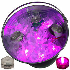 Super Bowl Party Beer Ice Bucket Lights Submersible LED Bright Festive 12 P
